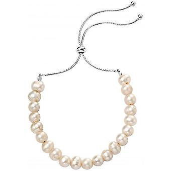 Beginnings Freshwater Pearl Adjustable Toggle Bracelet - White/Silver