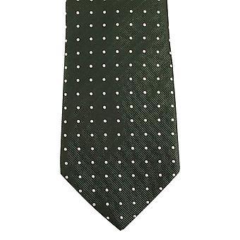 Bassin и коричневый средний/большой пятно шелковый галстук - зеленый/оранжевый