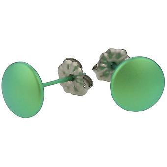 TI2 titanio orecchini Smartie - verde fresco