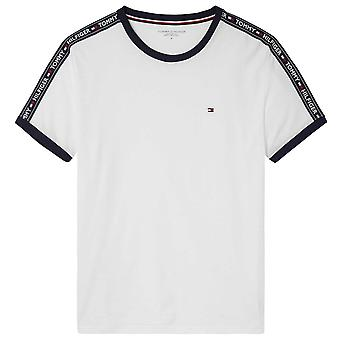 Tommy Hilfiger Logo Tape Crew Neck T-Shirt, White, X-Large