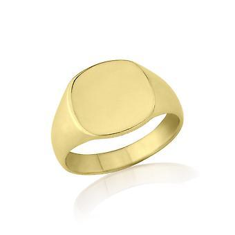 Mariage Star anneaux en forme de coussin 9ct poids moyen or jaune chevalière
