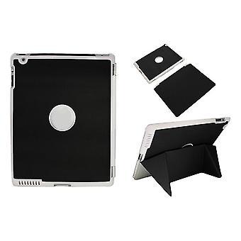 2/3 zum iPad smart Case/Ärmel-mit magnetischen Falten Standard-schwarz