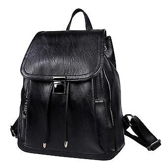 Backpack in black, 33x28x14 cm
