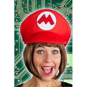 Hoeden spel hoed rood Mario