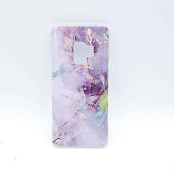 Pour S9 Samsung Galaxy – cas-lilas de marbre flash