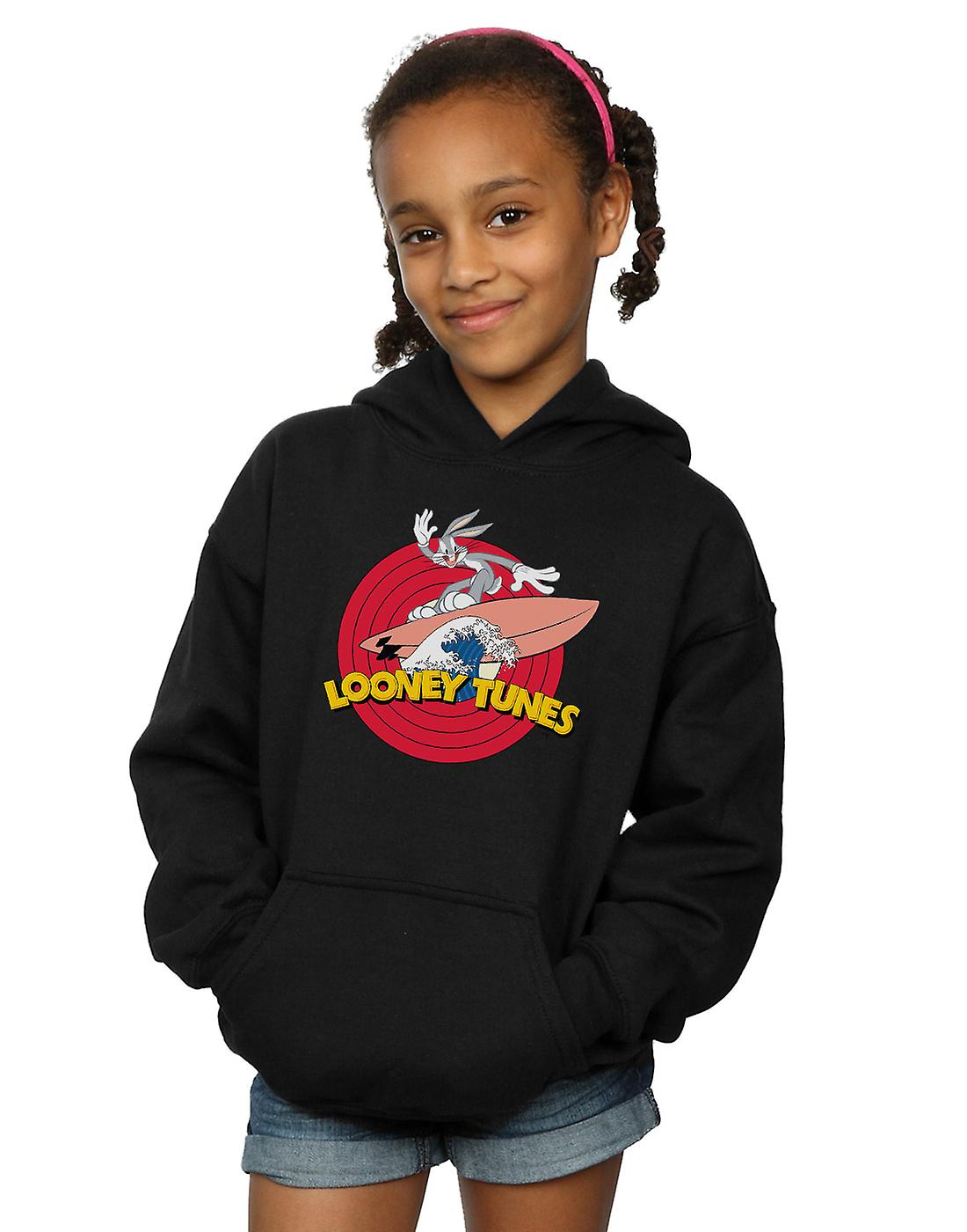 Looney Tunes Girls Bugs Bunny Surfing Hoodie