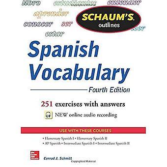 Schaums disposition av spanska ordförråd, 4th Edition