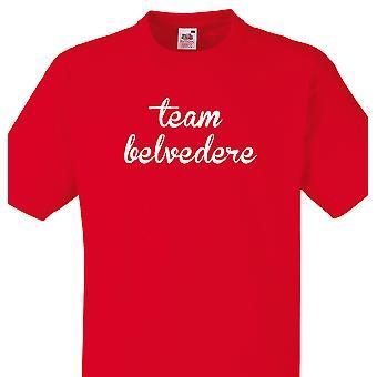 Team Belvedere rød T shirt