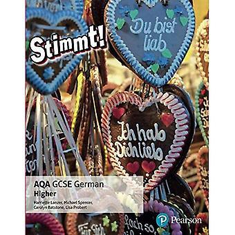 Stimmt! AQA GCSE allemand livre de l'élève plus élevé: supérieur