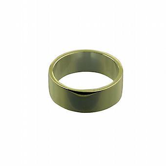 Oro 9ct 8mm pianura piatto anello di nozze dimensione Z