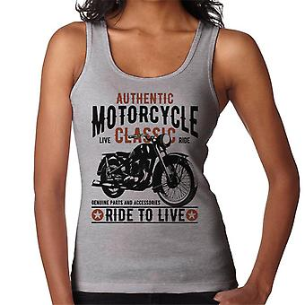 Authentic Motorcycle Ride To Live Women's Vest