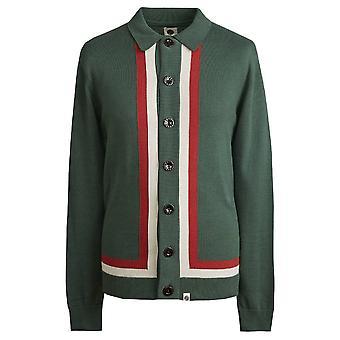 Mooie groene groene Contrast Panel gebreid Shirt