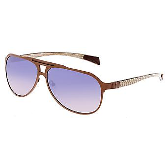 Breed Apollo Titanium and Carbon Fiber Polarized Sunglasses - Brown/Purple
