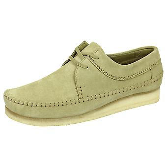 Clarks originals weaver men's maple suede shoes