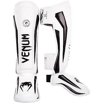 Venum Elite MMA espinilleras con empeine - blanco/negro