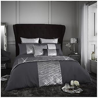 Aranami Fancy Crinkle glänzend Quilt Bettbezug luxuriöse Bettwäsche-Set Kissenbezug