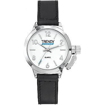 トレンディなジュニア KL319 - 黒い子ラウンド時計