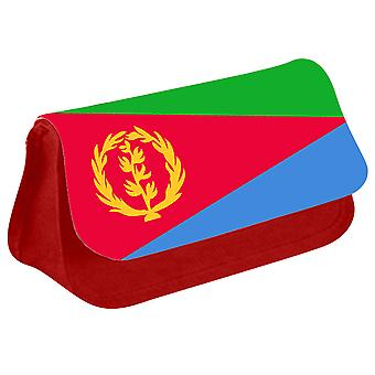 Eritrea Flag Printed Design Pencil Case for Stationary/Cosmetic - 0055 (Red) by i-Tronixs