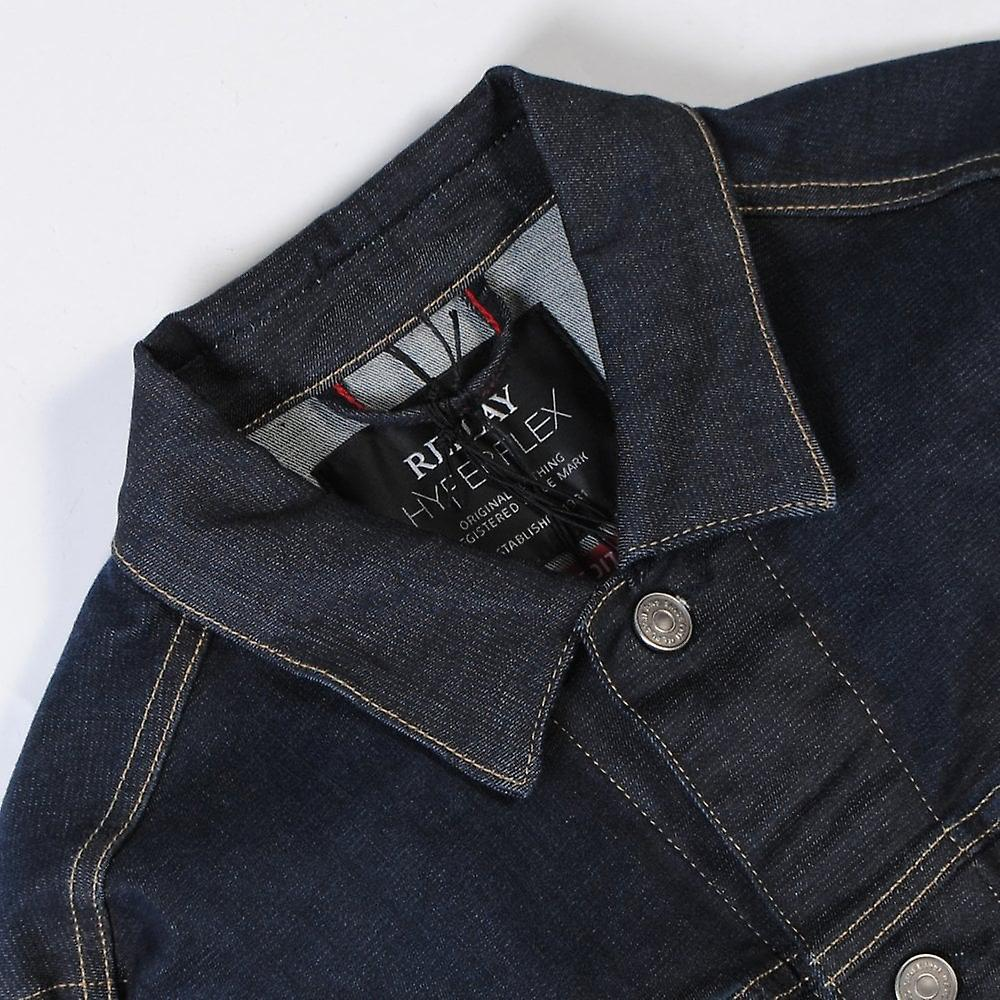 Replay Classic Denim Jacket Navy Blue