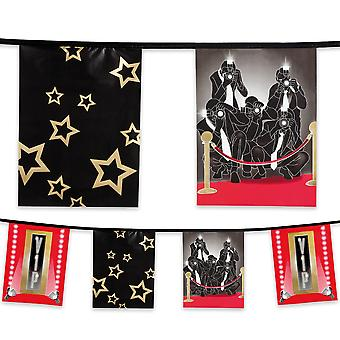 6 Metre Plastic Bunting Hollywood VIP Celebrity