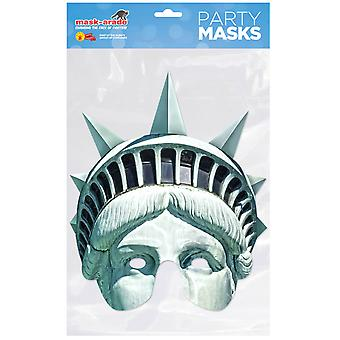 Statue of Liberty Single 2D Card Party Half Fancy Dress Mask