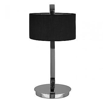 Premier Home Leyna bordslampa-EU plugg, kromat tyg, silver