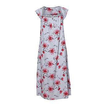 Cyberjammies 1326 Mujeres's Nora Rose Nancy Gris Mix Floral Algodón Long Nightdress