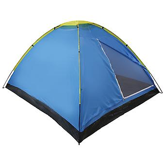 Yellowstone 2 Man Camping Dome Tent Blue
