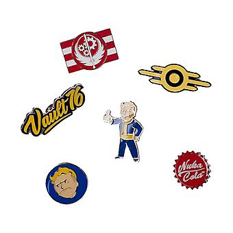 Fallout 76 Badge Pack Pins valv pojke Nuka Cola nya officiella 6 Pack
