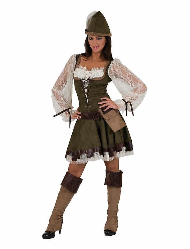 Waldläuferin Damenkostüm Lady Marian Geächtete Karneval Fasching Kostüm Damen