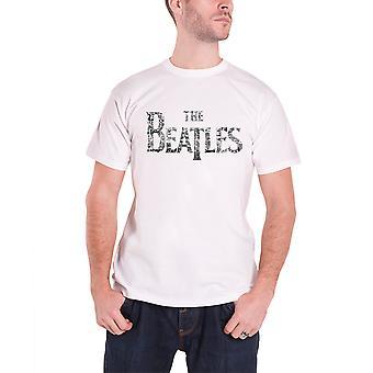 Beatles Mens T skjorta vit släppa T konsertbiljetter bandet logotypen tjänsteman