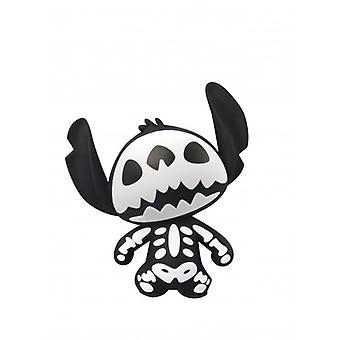 3D Foam Magnet - Disney - Lilo Stitch - Stitch Skeleton New 85039