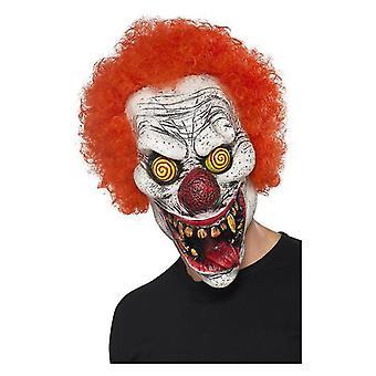 Herre Twisted klovn maske Halloween Fancy kjole tilbehør