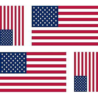 4 X Sticker Sticker Motorcycle Car Flag USA Americain USA