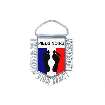 Fanion mini bandeira país carro decoração França Black Foot Algerie francês