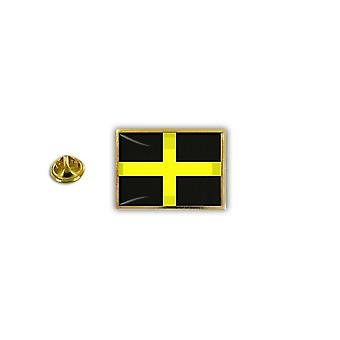 Pine PineS Pin Badge Pin-apos;s Metal Epoxy With St. David's Flag Butterfly Pinch
