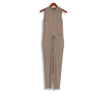 Lisa Rinna Collection Petite Jumpsuits Ankle-Length Taupe Beige A354092