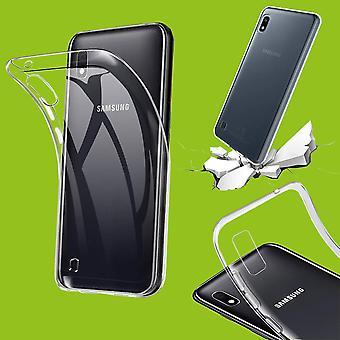 Dla Samsung Galaxy A10 A105F Silikonowa obudowa TPU Ochronna przezroczysta obudowa Akcesoria do obudowy