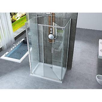 Box doccia 70x140x70 anta battente interna esterna - gemini