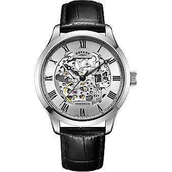 Rotary GS02940-06 Hombres's Skeleton Dial Reloj de pulsera automático