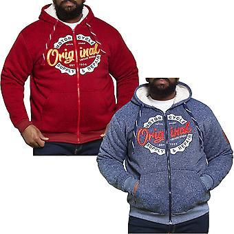 Duke D555 Mens Big Tall Kingsize Rylan Sherpa Lined Zip Up Hoody Jumper Sweater