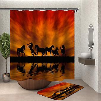 Twilight Pferde Silhouetten Duschvorhang