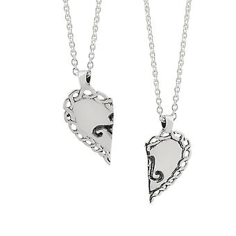 "Celtic Best Friend Love Heart Ancient Triskele Necklace Pendants - Includes 18"" Chain"