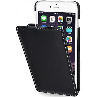 Case For iPhone 6 Plus / 6s Plus Ultraslim In True Black Leather Nappa