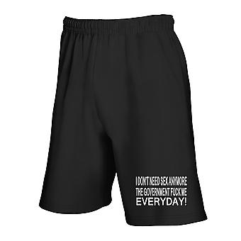 Black tracksuit shorts fun3454 sex and government prohibited version