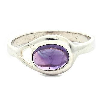 Ring 925 Silber mit Amethyst 55 mm / Ø 17.5 mm (KLE-RI-006-01-(55))