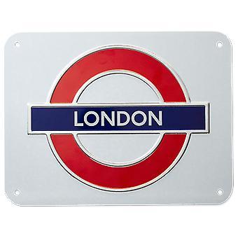 London Underground tecken, London, medellång metall skylt (GWC)