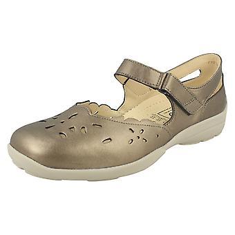 Ladies Easy B DB 'Erin' Leather Sandals Navy UK 5 EE-4E EU 37.5