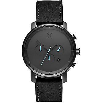 MVMT D-MC01-GUBL horloge-heren zwart lederen TimeWatch
