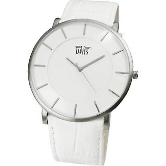 Davis 0911 - watch leather white Mixed-Mode